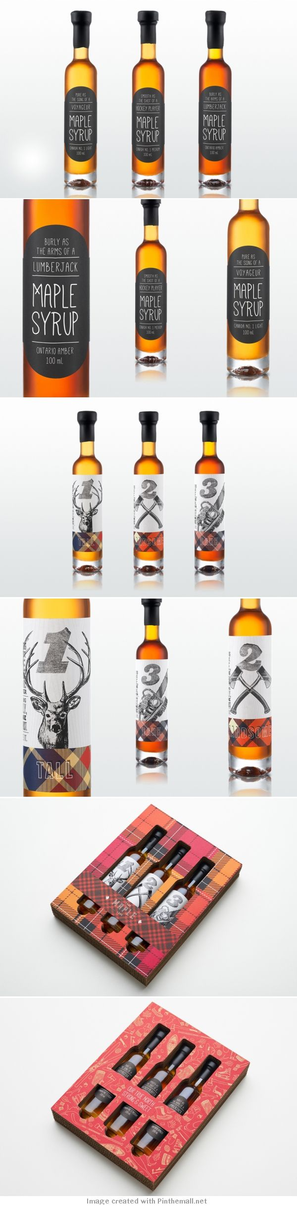 Ampoule laureen luhn design graphique - 2013 Holiday Syrup Packaging