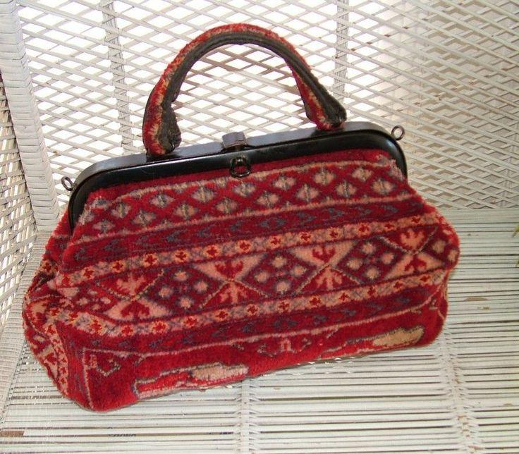 Vintage Carpet Bag Amazing Rich Colours Carpet Bags
