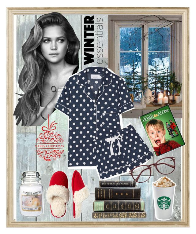 """🍫Late Holiday Evenings☕️"" by carotomboy ❤ liked on Polyvore featuring Rifle Paper Co, Wall Pops!, Dearfoams, Three J NYC and Yankee Candle"