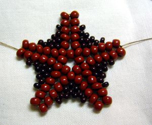 Starfish - pictures are enough but translate. ~ Seed Bead Tutorials