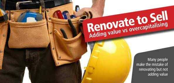 RENOVATE TO SELL: Renovation is one of the ways you can differentiate your home to attract buyers in a slow market, but you need to do your homework to ensure that renovating before you sell is worth the time, effort and money.  Read more http://cairnshomeloans.com.au/blog/renovate-to-sell/