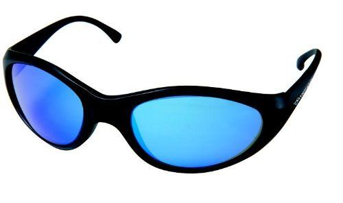 Ocean Waves Chicago Sunglasses (Black with Blue Lens) by Ocean Waves. Save 30 Off!. $132.49. Mirrored: Blocks Maximum Amount of Glare and Light without distortion of image, color, or depth perception. The Blue Mirror is ideal for those highly sensitive to light and for high glare situations, such as Offshore Fishing.. The Chicago frame wraps your face to ensure the maximum protection. Contoured to fit the face, it allows added comfort for all day wear.. 100% Polarized - helps elimina...