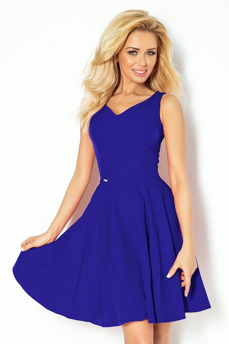 letne saty, damske saty, elegantne saty, modre saty, trendy saty, summer dress, royal blue, minisaty, fashion,