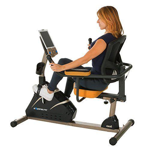Exerpeutic 4000 Magnetic Recumbent Bike With 12 Workout Programs Biking Workout Recumbent Bike Workout Workout Programs