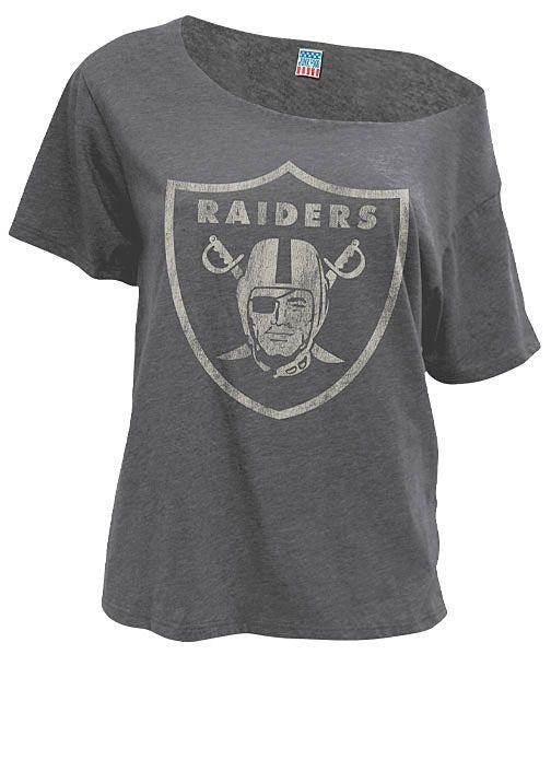 Off The Shoulder NFL Oakland Raiders Top