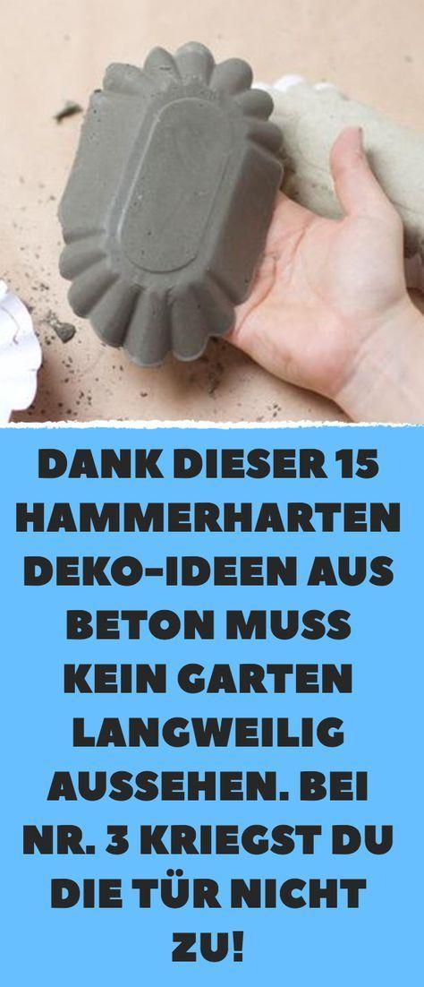 Dank dieser 15 hammerharten Deko-Ideen aus Beton muss kein Garten langweilig aus …  – Garten