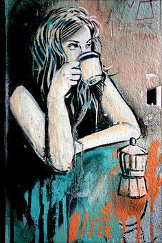 Pause café, un point c'est tout ! / Street art.