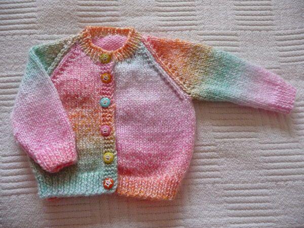 Colourful Baby cardigan | Baby cardigan knitting pattern