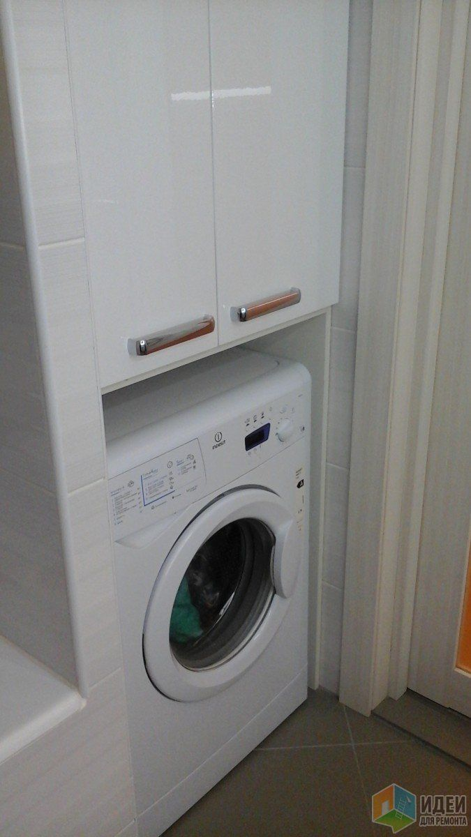 Стиральная машина в нише, ванная фото