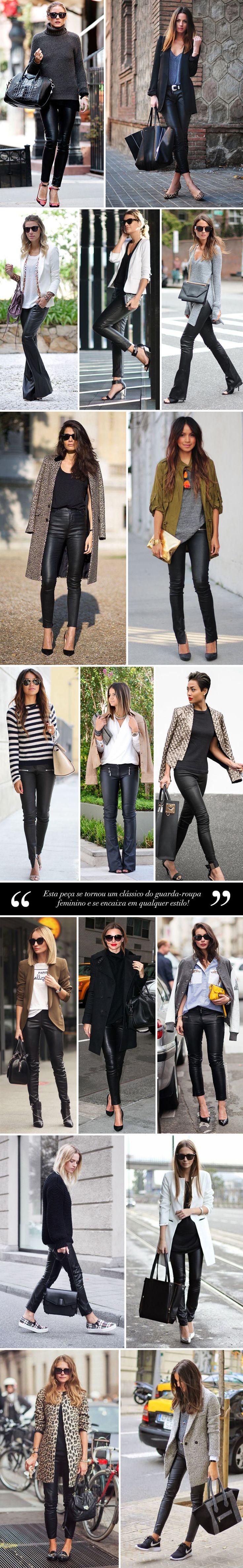 Calça de couro preta: peça coringa! - Estilo Meu / leather pants / calça de couro / estilo / stylish / winter / casual looks / outfits