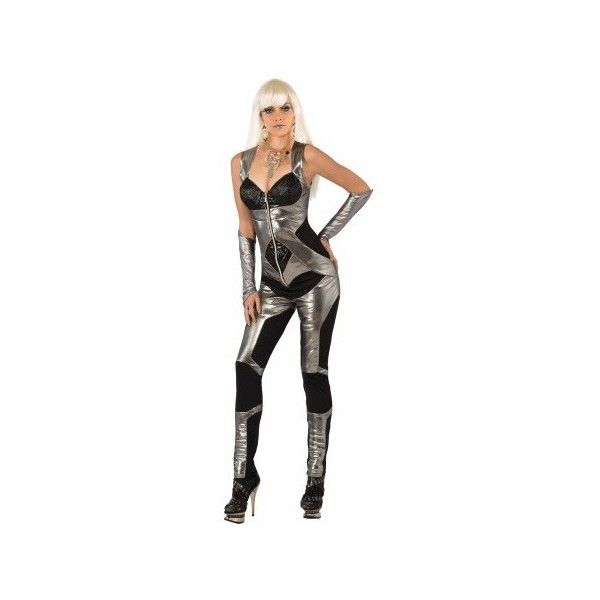Futuristic Bodysuit Womens Costume THEMES ($54) ❤ liked on Polyvore featuring costumes, lady costumes, women's halloween costumes, ladies halloween costumes, womens snow white halloween costume and white halloween costumes