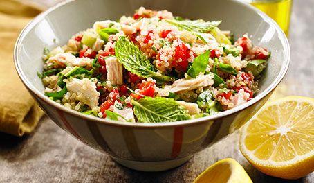 #PinToWin #MakeLifeEasy Make Life Easy with this Quinoa, Tuna and Fresh Mint Salad recipe! LIKE us at https://www.facebook.com/goldseal #cannedtuna #nodraintuna #easyrecipes #glutenfree