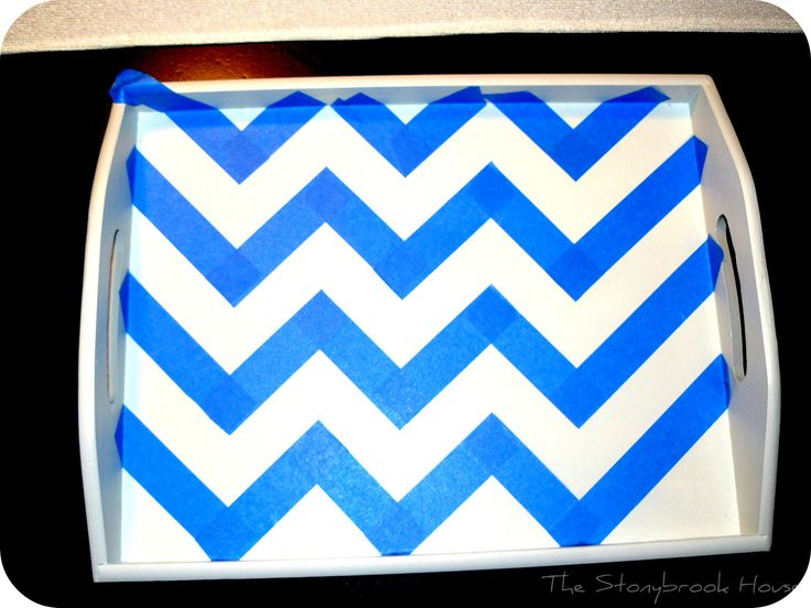 DIY Painted Chevron Tray{Not What I Had Planned....}