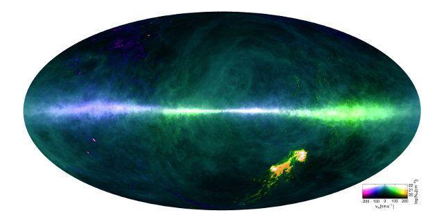 """L'indagine HI4PI ha creato la migliore mappa della distribuzione dell'idrogeno nella Via Lattea In un articolo pubblicato sulla rivista """"Astronomy & Astrophysics"""" viene descritta la creazione di una mappa dell'idrogeno atomico neutro nella Via Lattea. #hi4pi #idrogenoatomiconeutro"""
