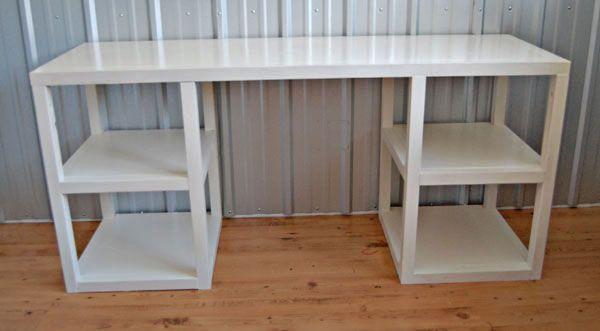 l shaped desk plans diy woodworking projects plans. Black Bedroom Furniture Sets. Home Design Ideas