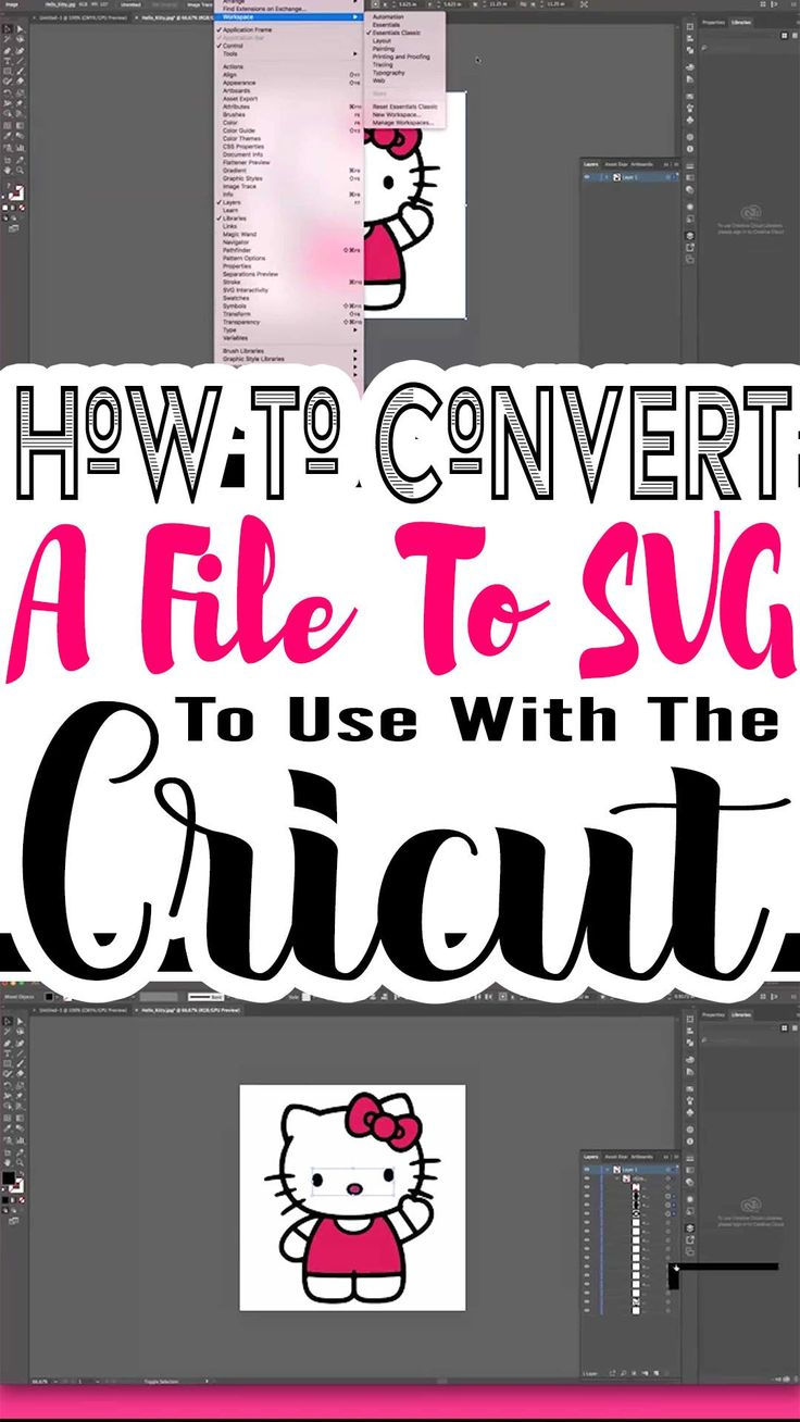 How To Convert An Image To SVG To Use With Cricut Design