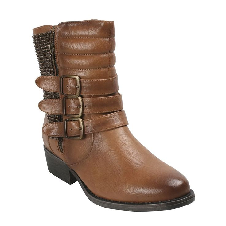 Bumper Women's Harper01 Round Toe Mid-calf Boots Camel *** More info could be found at the image url. #bootsday