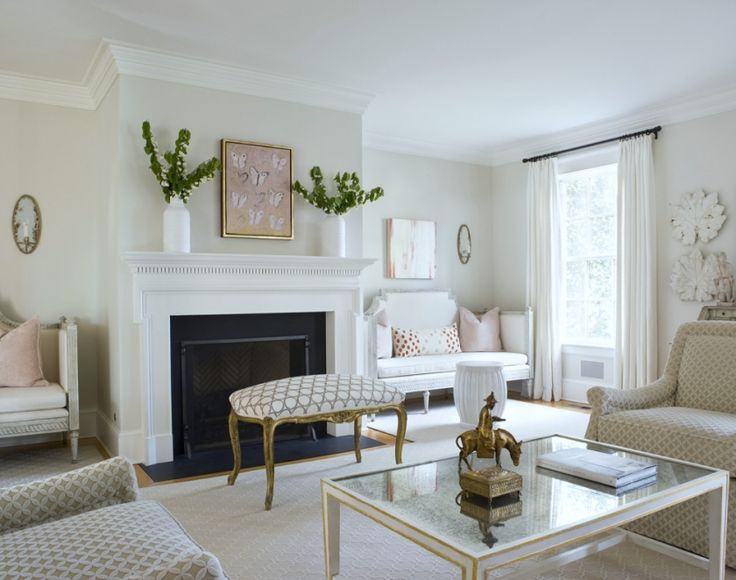 Nine Fabulous Benjamin Moore Warm Gray Paint Colors - laurel home | love the Gustavian Benches | Ivy Lane