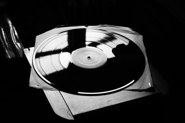 Vinyl, Muziek, Boord, Zwart En Wit, Zwart-Witfotografie
