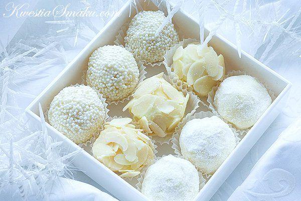Czekoladki z białej czekolady