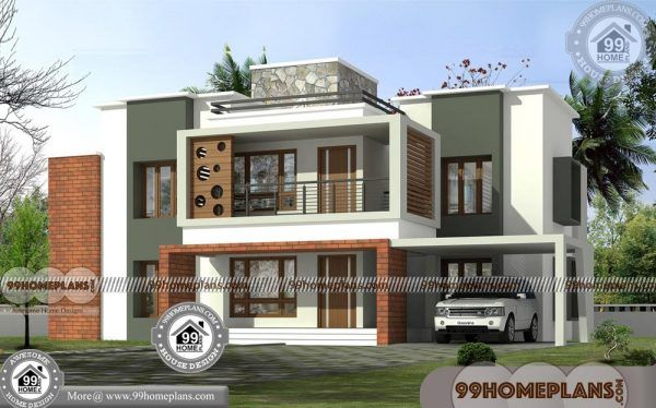 House Design 2 Storey Flat Roof Contemporary Style 600 Modern Plans House Design House Designs Exterior Flat Roof House