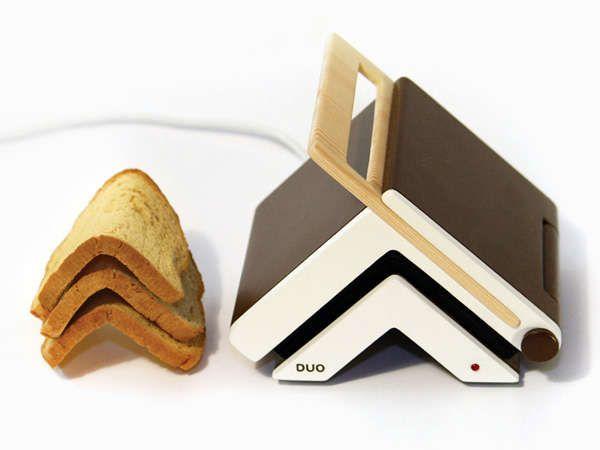 Toaster & Knife Folds Your Slice for Easy Sandwich Making #bread trendhunter.com