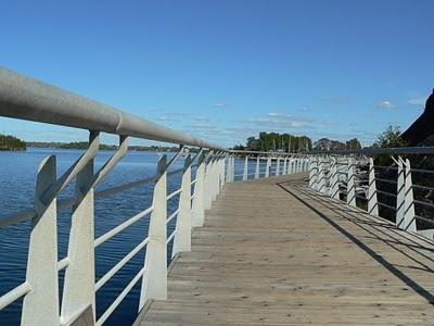 Bell Park Boardwalk in Greater Sudbury, Ontario