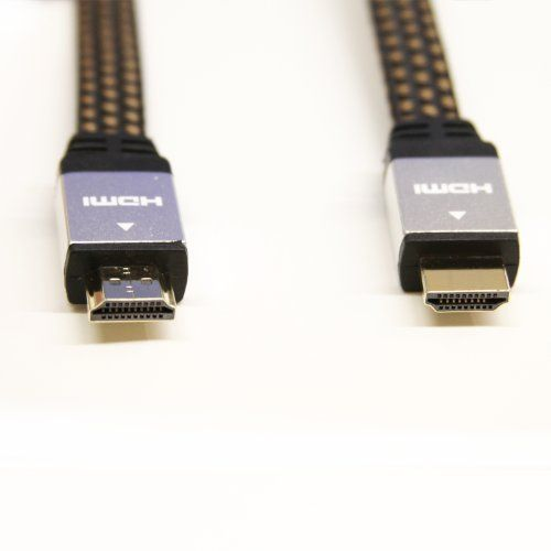 LB1 High Performance New HDMI Cable for Samsung UN65HU8550 65-Inch 4K Ultra HD 120Hz 3D Smart LED HDTV High Speed Type A Flat HDMI Cable 24K Gold Plated Connector 30 AWG 10ft