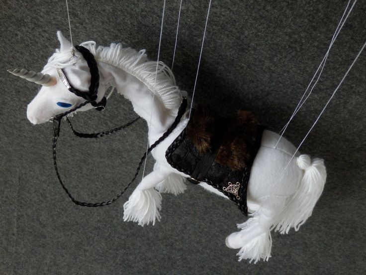 Saddle without saddle skeleton for horse puppets. Made by Juditheart