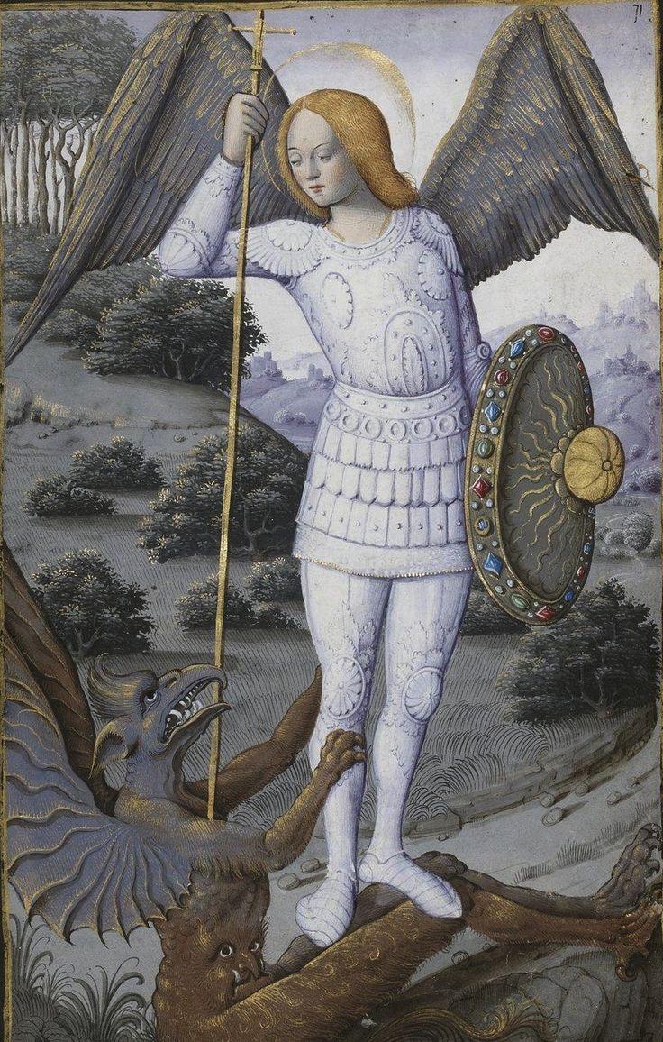Saint Michel, archange, Horae ad usum romanum, 1475-1600, 71r Heures dites de Henri IV.
