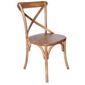 """#Wiener #Kaffeehaus Stuhl in klassischem #Design #Shabby #Chic. Elegante Esszimmerstühle """"Shabby Klassik"""". Die gekreuzten Kurven an der Rückenlehne sorgen für mehr #Stabilität. Ideal für #Wohnraum, Schlafzimmer, #Cafe, #Restaurant, Tresen, Theke, #Küche."""
