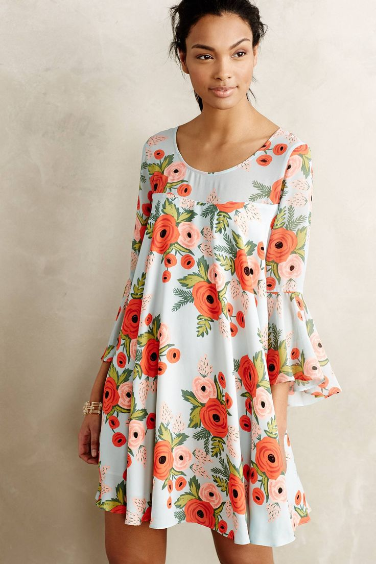 Paper Crown x Rifle Paper Co. dress designed exclusively for Anthropologie.