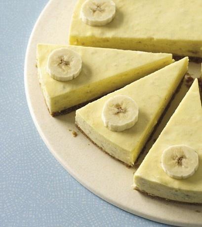 Яблочно-банановый чизкейк без запекания рецепт с фото