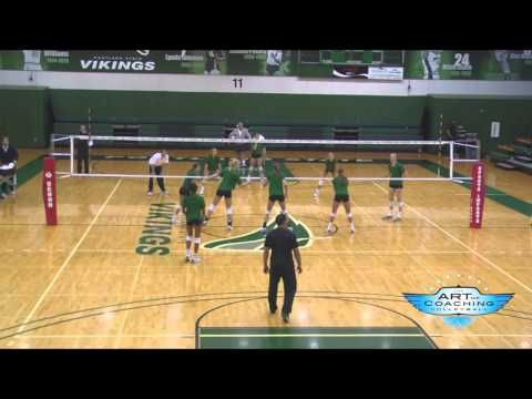 Art of Coaching Volleyball Pass for Points Drill - Diane Flick