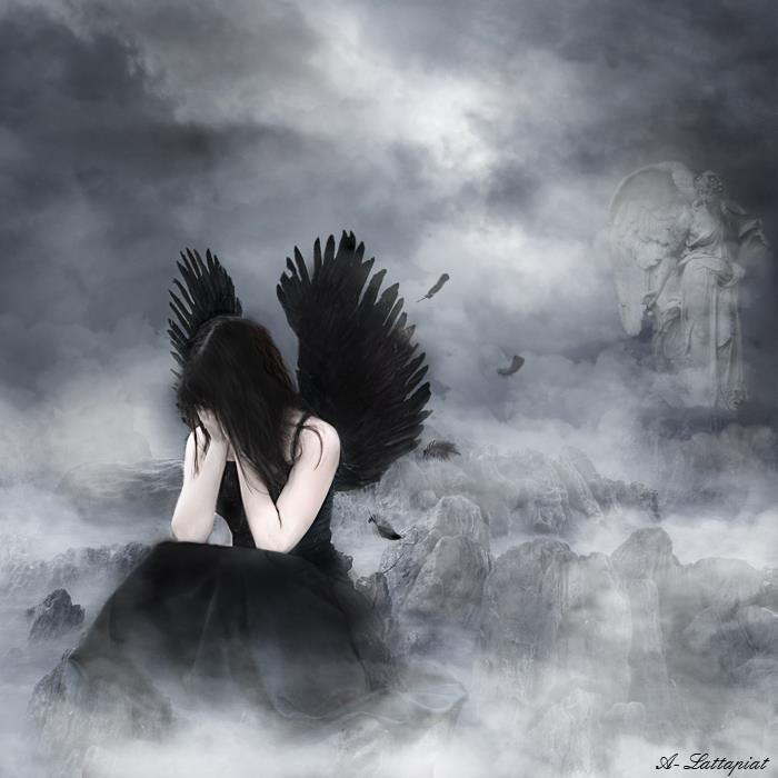 Картинки грустный ангел на аву