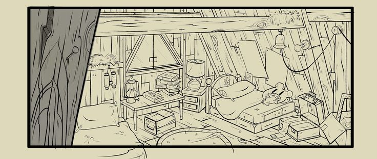 I'm Sean Jimenez bedroom, gravity falls, high angle, rug, bed, messy, clutter, books, wood floor, suitcase