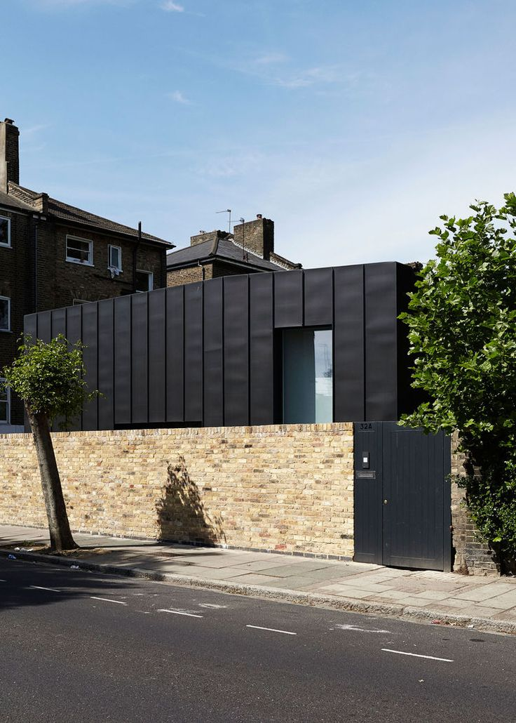 Zinc-paneled Passive Home in England.