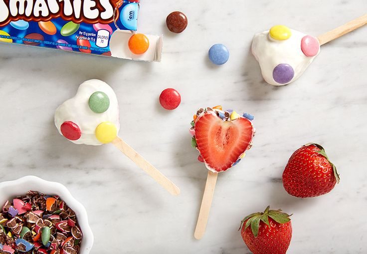 Strawberry SMARTIES Hearts Fall in love with a new Valentine's Day treat!
