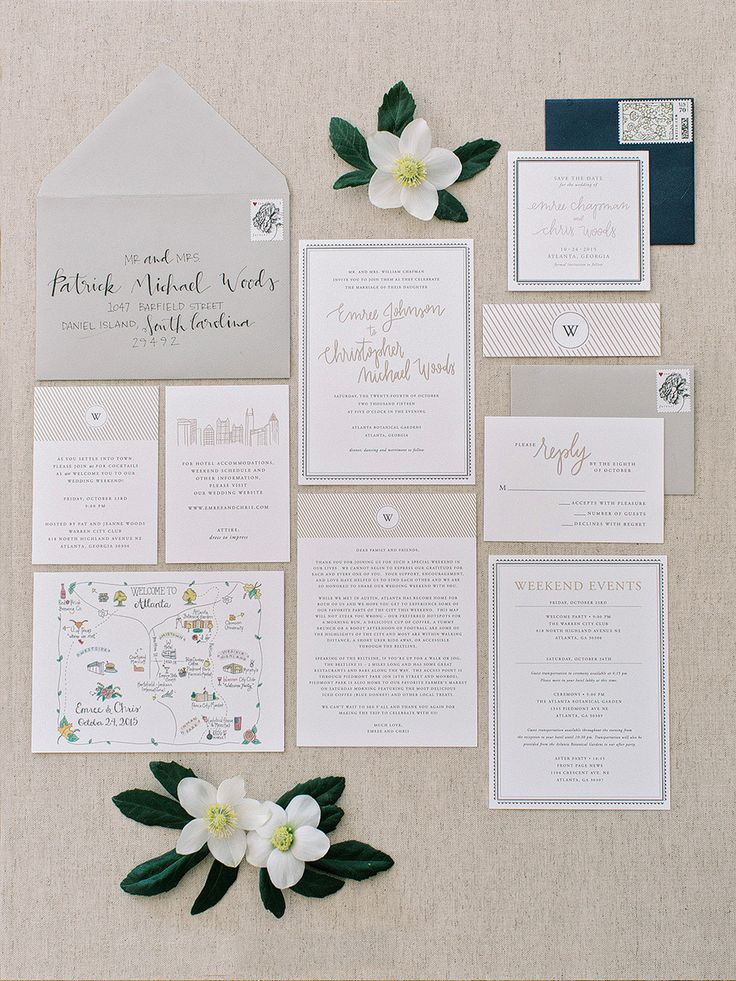 Elegant meets modern invitation suite: Photography : Amy Arrington Photography Read More on SMP: http://www.stylemepretty.com/2016/07/19/this-southern-wedding-is-a-foodie-lovers-dream/