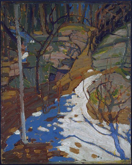 Tom Thomson Snow and Rocks, Spring 1916