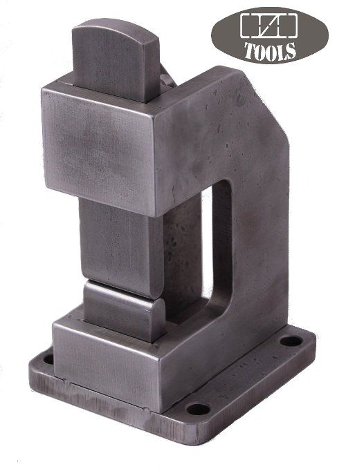 "Blacksmiths Guillotine Tool 1&1/4"" Hardie Hole (Smithing Magician, Blacksmiths Helper Tool) By Ozo Tools"