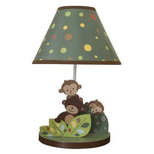 Baby monkey lamp. This would go great with all the monkey stuff we've gotten for Creed!