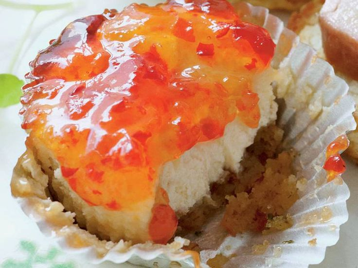 Pepper Jelly-Goat Cheese Cakes