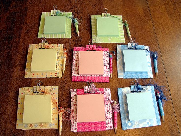 DIY custom post-it notepads for teacher appreciation gifts
