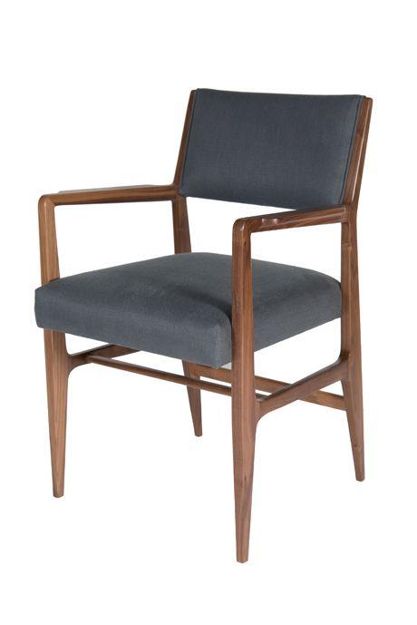 Maze Walnut Arm Dining Chair - Dering Hall