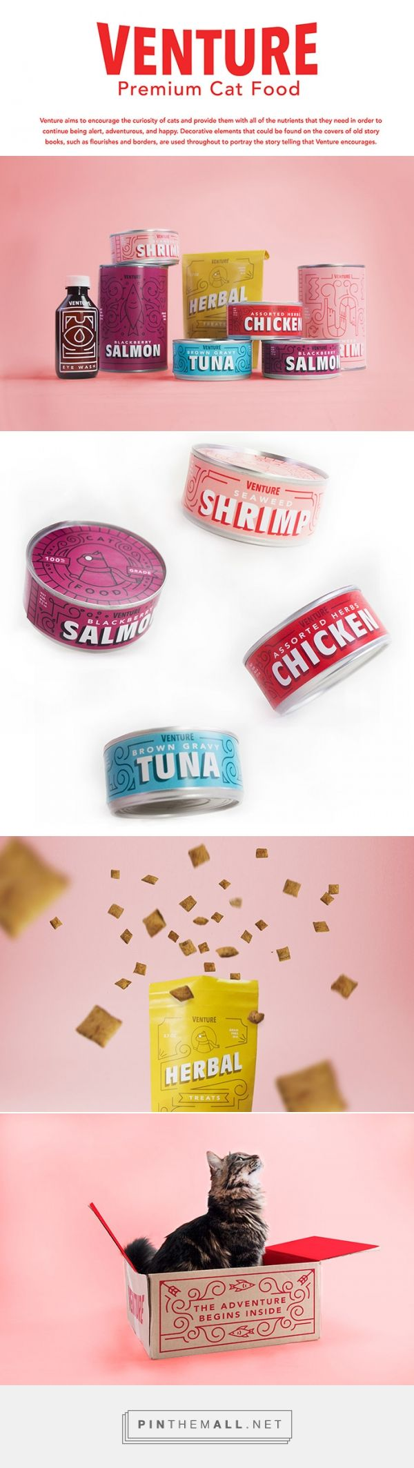 Venture Cat Food by Ashton Butler. Source: Daily Package Design Inspiration. Pin curated by #SFields99 #packaging #design