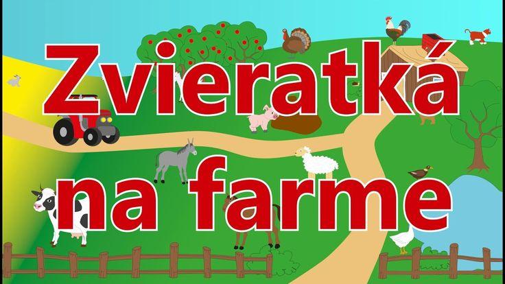 Zvieratká na farme -animované zvuky zvierat pre deti a najmenších-zvuky zvierat žijúcich na farme