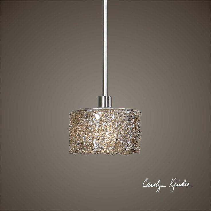 Uttermost Terumi 1 Light Glass Mini Pendant