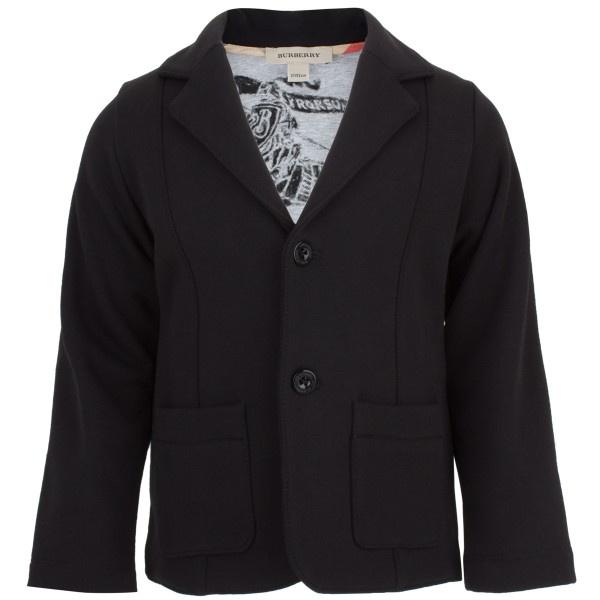 Burberry Black Jersey Blazer at alexandalexa.com