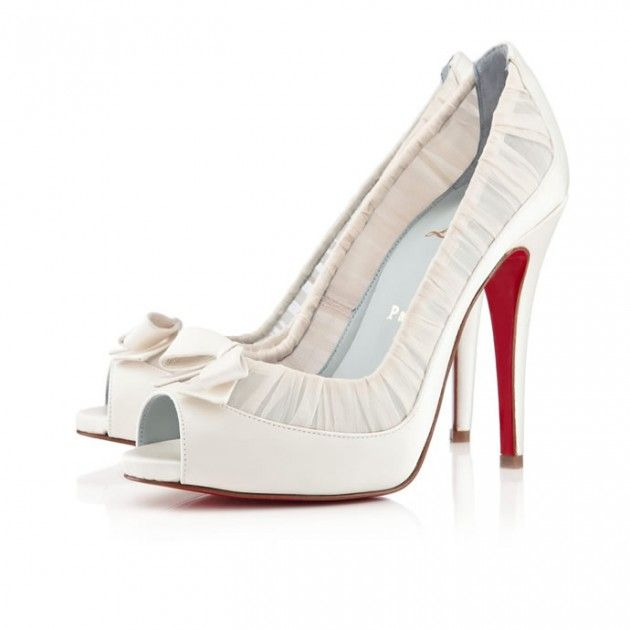 christian louboutin wedding shoes white